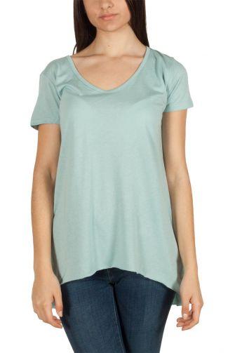 LTB Cepira γυναικεία κοντομάνικη ασύμμετρη μπλούζα ανοιχτό πετρόλ