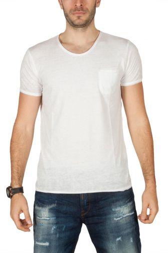 LTB Jenalo ανδρικό t-shirt λευκό με τσεπάκι
