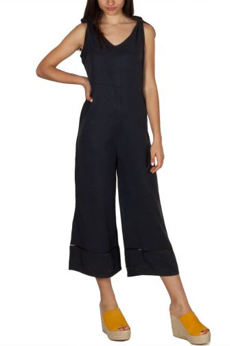 Ryujee Drissy culotte jumpsuit navy