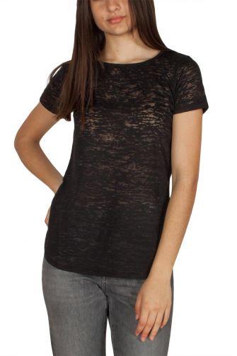LTB Dacola γυναικείο burnout t-shirt μαύρο