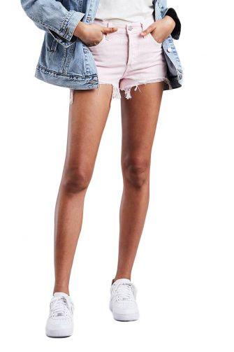 LEVI'S 501® denim shorts acid light lilac