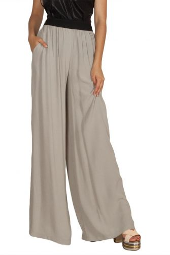Lotus Eaters Tracy palazzo trousers light grey