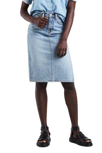 LEVI'S side slit skirt blue waves