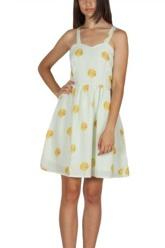 Migle + me τιραντέ φόρεμα ανοιχτό πράσινο Candy shop