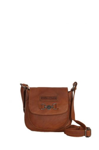 Hill Burry women's leather overflap cross body bag brown