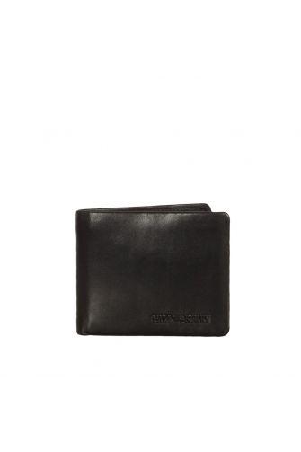 Hill Burry ανδρικό δερμάτινο πορτοφόλι RFID μαύρο