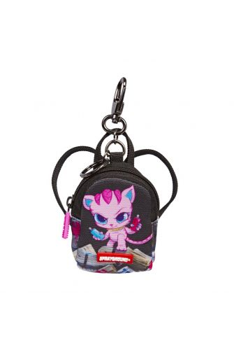 Sprayground kitten money stacks keychain