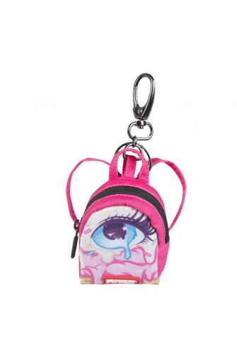 Sprayground left eye scream keychain