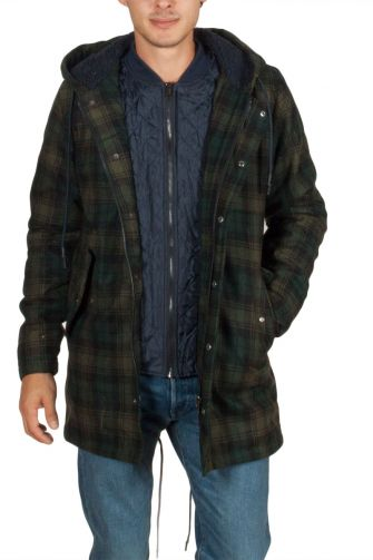Anerkjendt Luke blue checked parka with Thinsulate insulation