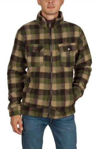 Anerkjendt Tikki teddy fleece jacket green checked