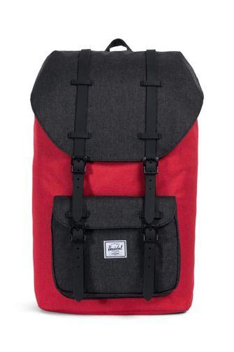 Herschel Supply Co. Little America backpack barbados cherry crosshatch/black crosshatch