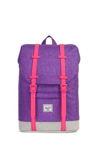 Herschel Supply Co. Retreat Youth backpack crosshatch deep lavender/light grey/fandango pink