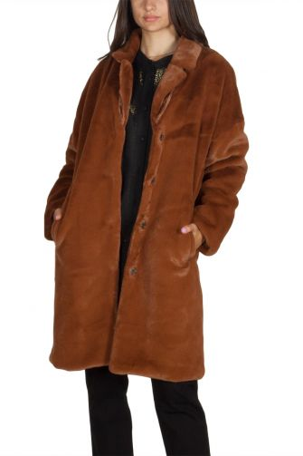 Minimum Belinde faux fur coat light brown