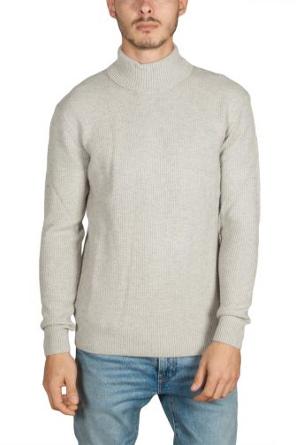 Minimum Foelle turtleneck jumper stone melange