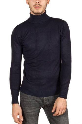 Men's turtleneck jumper navy Engell