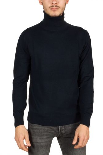 Men's turtleneck jumper dark navy New Sensation