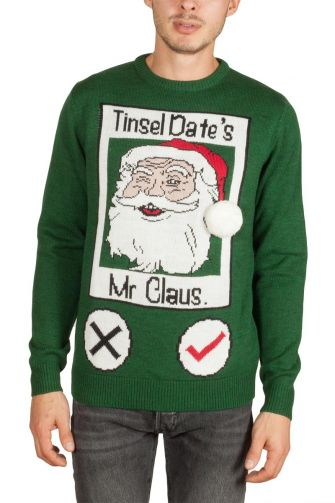 Threadbare Tinsel Dates men's christmas jumper