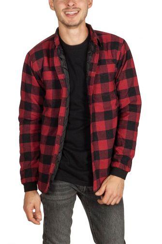 Anerkjendt Harbor check shirt red-black