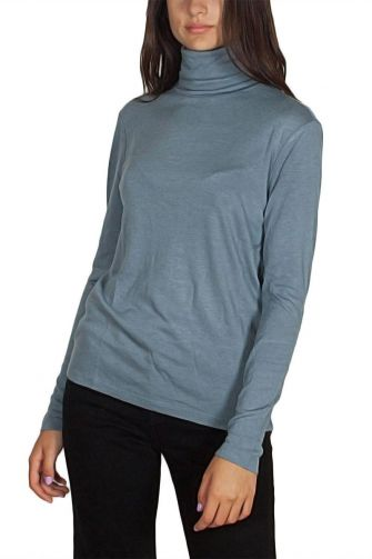 Minimum Petronella turtleneck long sleeve tee light blue