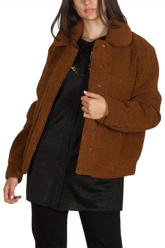 Minimum Vivien sherpa jacket light brown