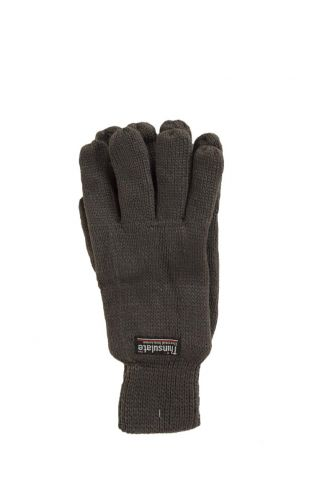 Thinsulate lined knitted gloves grey