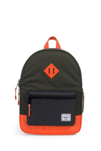 Herschel Supply Co. Heritage Youth backpack forest night/black crosshatch/vermillion orange
