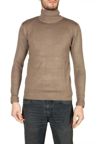 Men's turtleneck jumper beige