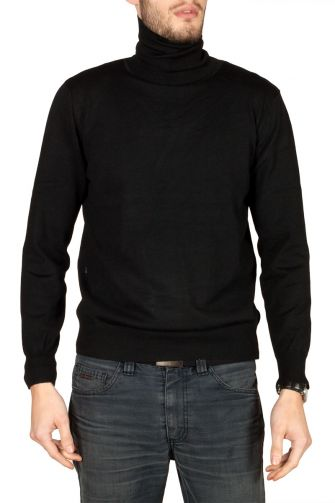 Men's turtleneck jumper black