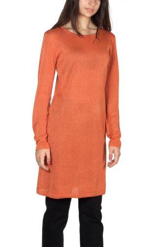 Pepaloves Lorena viscose knit dress orange