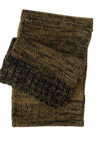 Knitted scarf olive melange