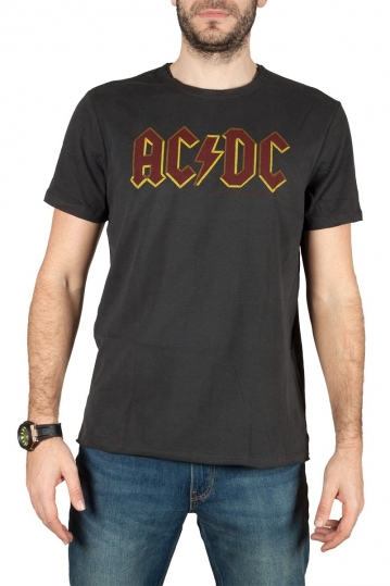 Amplified ACDC logo t-shirt charcoal