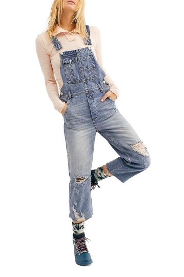 Free People baggy boyfriend overall