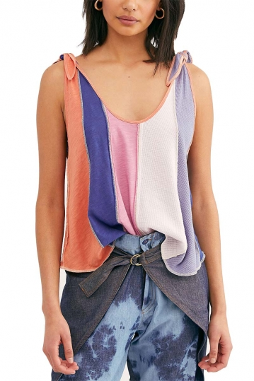 Free People Carousel Tank candy cloud combo