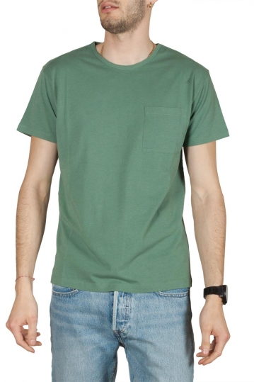 Thinking Mu organic cotton pocket t-shirt green