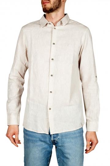 Anerkjendt Niko linen blend shirt ecru