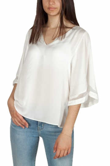 Rut & Circle mesh detail blouse white