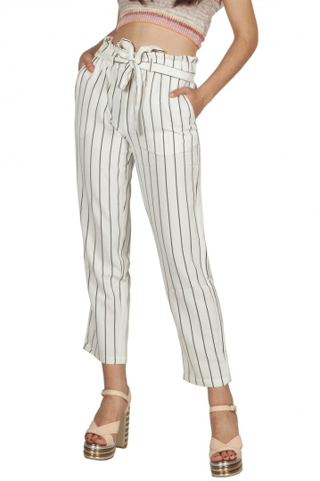 Rut & Circle Ofelia cropped pants white-black stripes