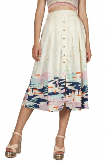 Thinking Mu Ibiza Adela midi skirt