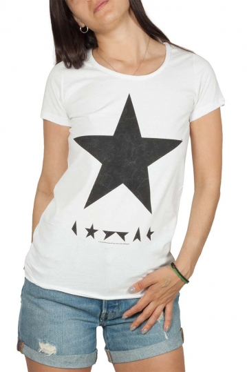 Amplified David Bowie blackstar t-shirt white