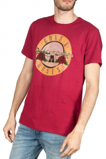 Amplified Guns n' Roses drum t-shirt bordeaux