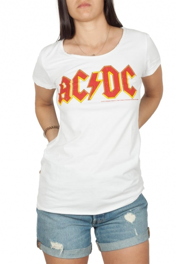 Amplified AC/DC Logo t-shirt λευκό