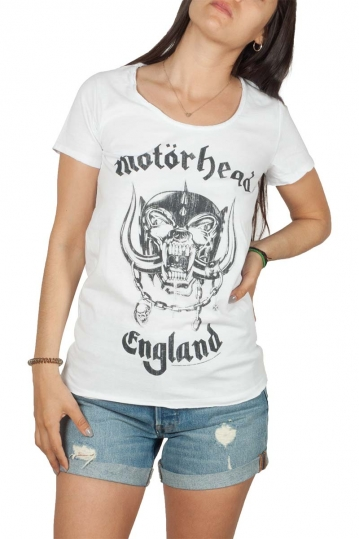Amplified Motorhead England t-shirt λευκό