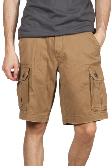 Men's cargo shorts dark beige