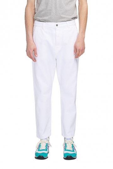 EDWIN Universe cropped denim pants white
