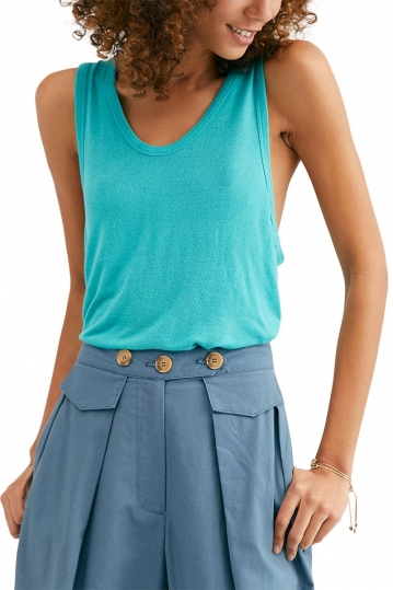 Free People Take the plunge tank sea turquoise