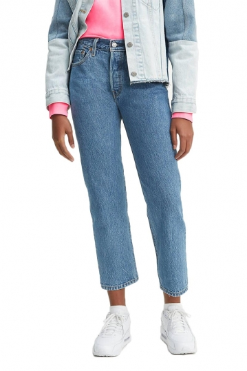 Levi's® 501® original cropped jeans Lost cause - light wash