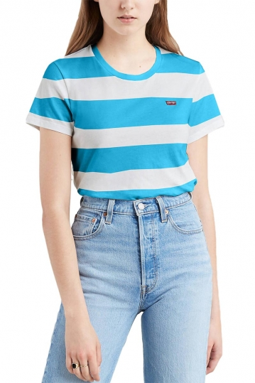Levi's® perfect tee multi-colored stripe-blue