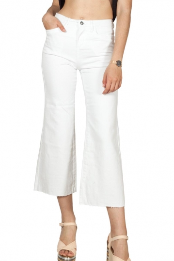 Rut and Circle denim culotte white