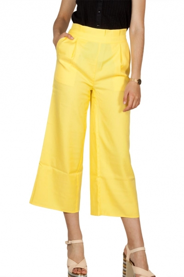 Rut and Circle paperbag culotte yellow