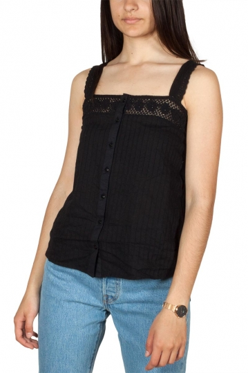 Rut & Circle crochet lace top black
